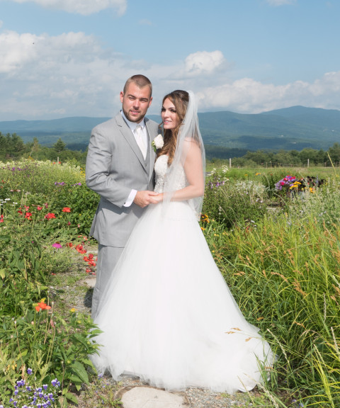 This photo was taken in the garden at the Trapp Family Lodge. I got the couple, Courtney and Dillon to stand just a few steps into the garden,