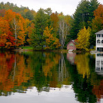 Foliage season on Lake Fairlee in eastern VT
