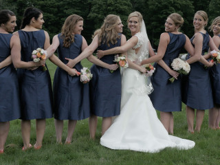 Bride and Bridesmaids in Formals