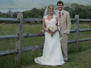 Vermont wedding couple at the Mountain Top Inn