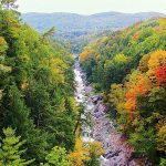 A season when foliage color was at its best at the Quechee Gorge