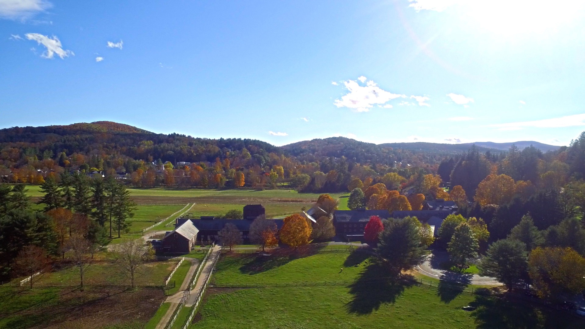 Billings Farm from the Air