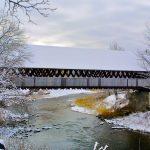 Center Bridge in Woodstock in mid winter
