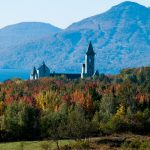Monastery on the Quebec border with Vermont, overlooks Lake Memphremagog