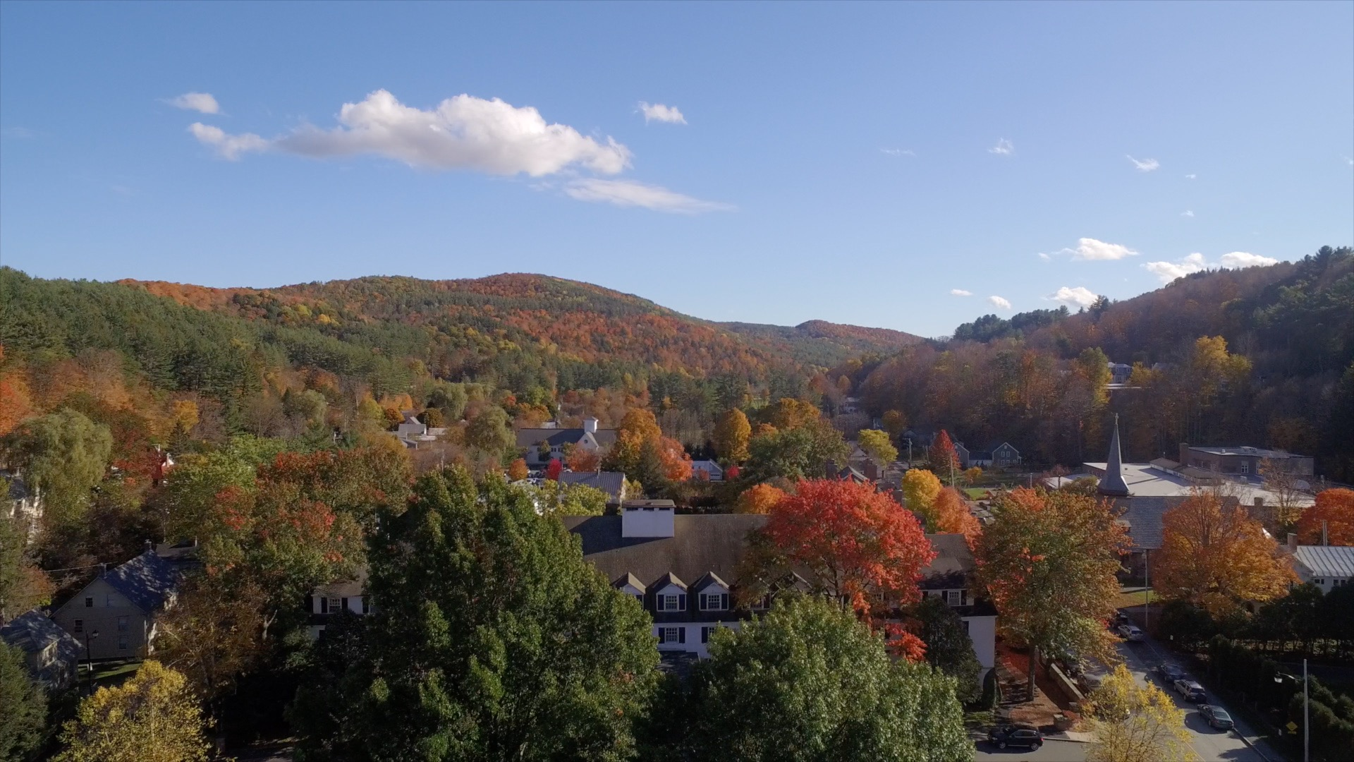 Woodstock Inn in the Fall