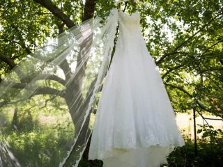 Wedding Dress in the Trees